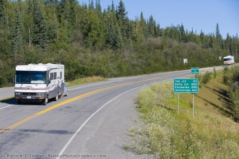 Motorhome on the Alcan highway